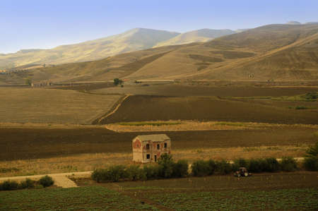 The Countryside of Central Sicily in Italy