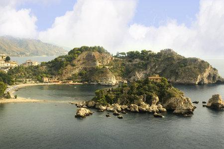 bella: Isola Bella at Taormina Mare beach in Sicily Italy