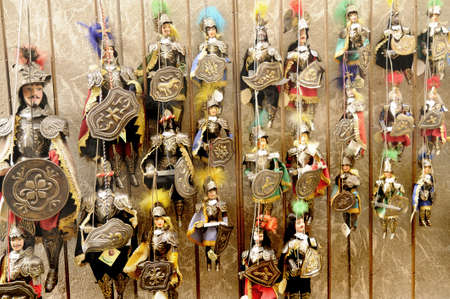 Marionettes of Soldiers in Rifugio Sapienza Sicily Italy