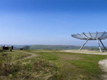 moors: The Halo Public Art Installation on Lancashire Moors Rossendale England