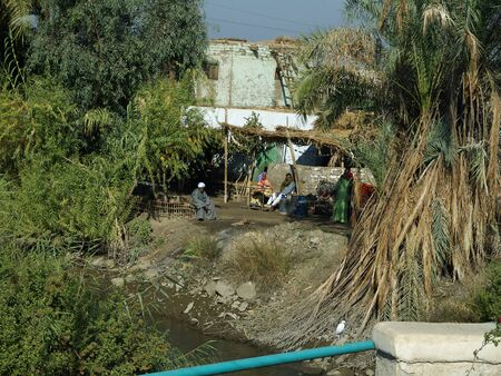 Living Conditions on the Banks of the River Nile in Egypt