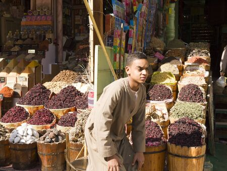 Aswan Souk or Market in the South of Egypt. Editorial