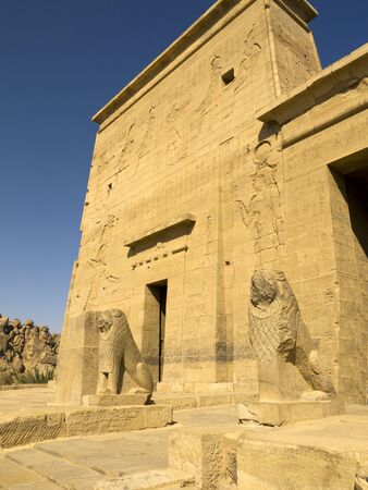 Temple complex at Philae Island on the River Nile in Eygpt
