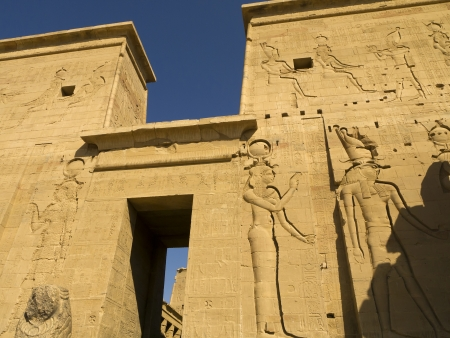 pharoah: Temple complex at Philae Island on the River Nile in Eygpt