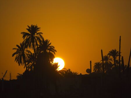 Sunset over the River Nile in Eygpt