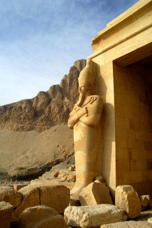 holies: Mortuary Temple of the female Pharaoh Hatshepsut Luxor Egypt