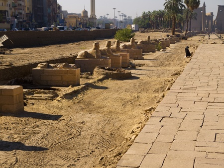 holies: Luxor Temple is an Egyptian  temple complex located in the city of Luxor (ancient Thebes) and was founded in 1400 BC.