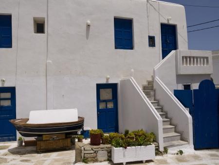 narrow: Narrow Street in Chora the Main town on the island of Mykonos Greece