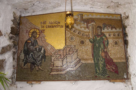 Icons in the Monastery on the Island of Corfu in Greece