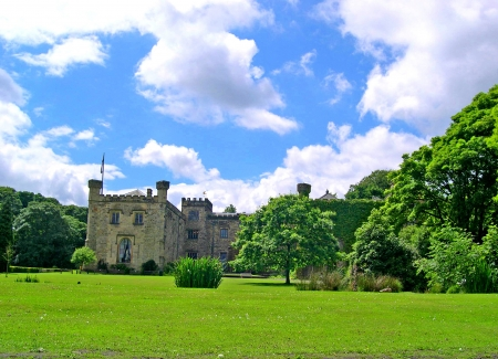 14th: Summer comes to 14th century Towneley Hall in Burnley Lancashire Editorial