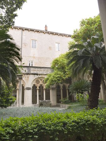 nicknamed: Cloisters in Franciscan Monastery in the Walled City of Dubrovnic in Croatia Europe It is one of the most delightful tourist resorts of the Mediterranean. Dubrovnik is nicknamed Pearl of the Adriatic