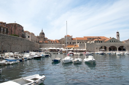 walled: Port in the Walled City of Dubrovnic in Croatia Europe