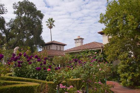 fuschias: Huge Villa on the Big Sur at San Simeon California USA