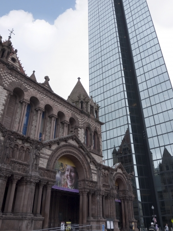 Old and New Buildings in Boston which is the capital and largest city in Massachusetts, and is one of the oldest cities in the United States