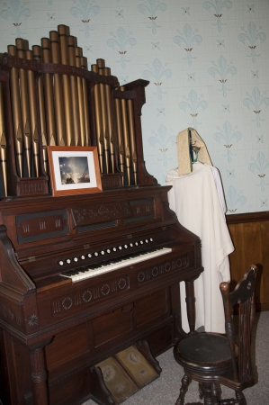 Organ in the Church in Bath New Hampshire USA