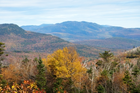 Fall in the White Mountains in the State of New Hampshire USA