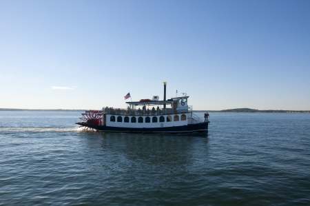 Paddle Steamer off Cape Cod is an island and a cape in the state of Massachusetts, in the Northeastern United States