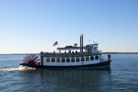 wampanoag: Paddle Steamer off Cape Cod is an island and a cape in the state of Massachusetts, in the Northeastern United States