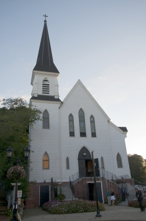 wampanoag: Church in Plymouth Massachusetts USA Editorial