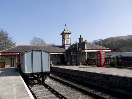 terminus: Este vapor de Lancashire Estaci�n Terminus en Rawtenstall Inglaterra