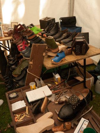 burnley: Lancashire Clogmaker at Community Festival in Burnley Lancashire
