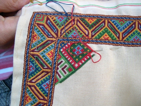 Traditional Embroidery from the island of Crete in Greece