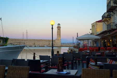rethymno: The Harbour at Rethymno in Crete Greece
