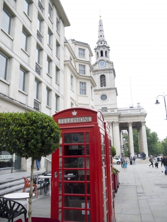 Red Telephone Boxes in London England