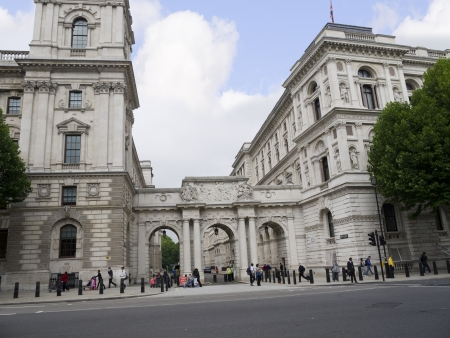 father in law: Whitehall Buildings in London England