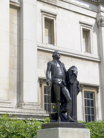 father in law: Statue outside the National Gallery in London England