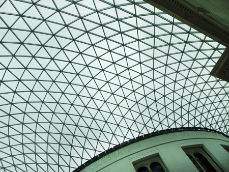 great hall: The Great Hall in the British Museum in London England