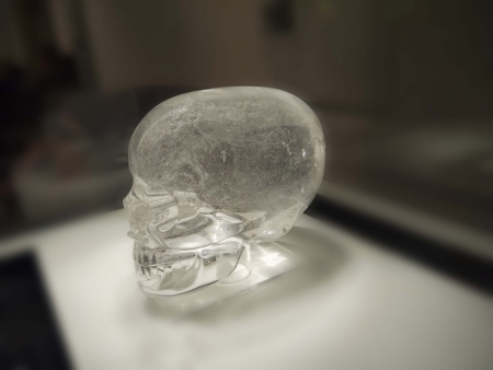 Crystal Skull on exhibition in Museum in London England