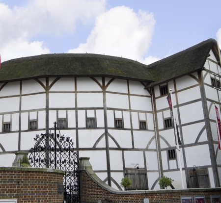 globe theatre: The Globe Theatre in Southwark London England Editorial