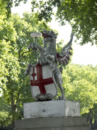 lords: Dragon Statue marking the Boundary of the City Of London England Editorial
