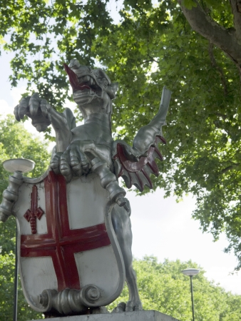 commons: Dragon Statue marking the Boundary of the City Of London England Editorial