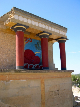 The Palace at Knossos on the Island of Crete Greece