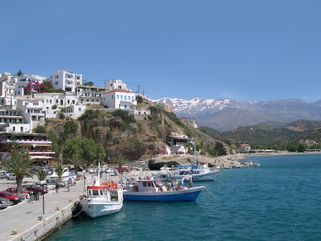 Agios Galini in the South of the Island of Crete Greece