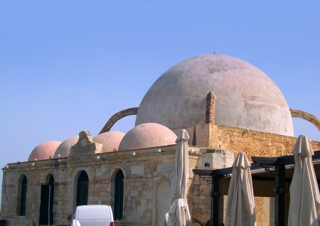 Mosque in Chania on the island of Crete Greece