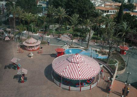 The Tivoli Gardens Theme park from the Cable Car at benalmadena Costa Del Sol Spain