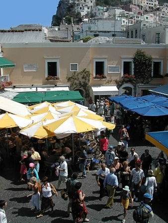 The Piazzetta on the Beautiful Island of Capri in Southern Italy