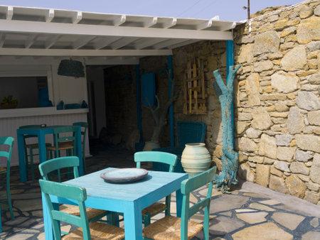 Greek Backyard Designs tiny tropical uk garden dewin designs Greek Souvenirs Hotel On The Lovely Island Of Mykonos In Greece
