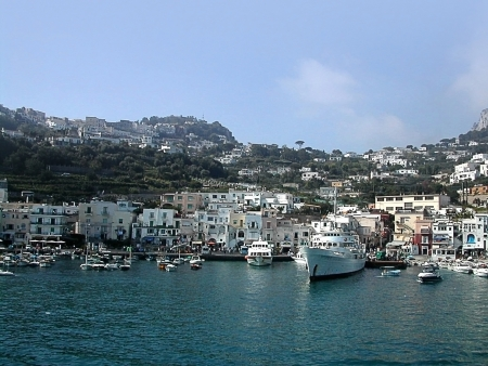 The Marina Grande Harbour on the Beautiful Island of Capri in Southern Italy
