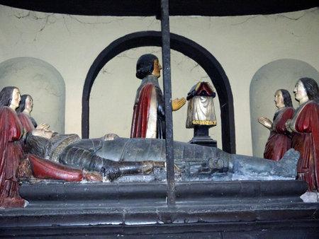kilmainham: Tomb in St Patricks Cathedral in Dublin Ireland Editorial