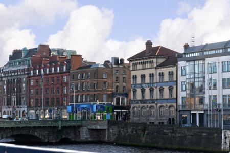 kilmainham: Buildings on the Bank of the River Liffey in Dublin Ireland Editorial
