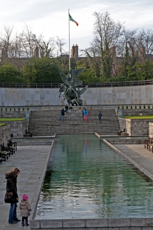 The Garden of Remembrance in Dublin City Ireland