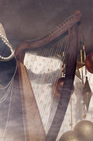kilmainham: An Irish harp on display in Trinity College Dublin Ireland Editorial