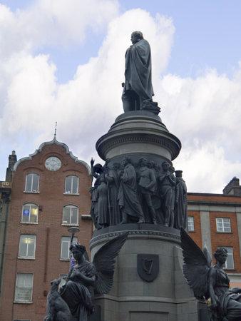 kilmainham: Daniel O Connells Statue on O Connell Street Dublin Ireland