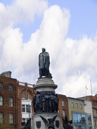 Daniel O Connells Statue on O Connell Street Dublin Ireland