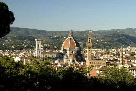 View of the Duomo from the Belvedere Fortress Florence Italy