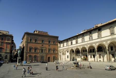 Piazza of the Annuciation in Florence Italy